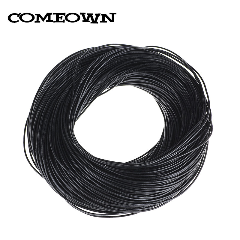 Black Round Real Leather Jewelry Cord 2.5mm 10M length