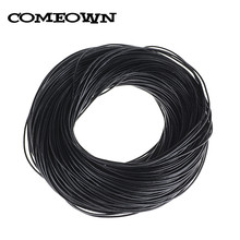 COMEOWN 10M 1mm Black Real Leather Round Cords/String/Thread DIY Jewelry Findings Handmade Necklace & Bracelets For Women Men(China)