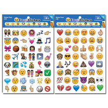 4PCS/LOT Smile Face Emoji Stickers A Sheet Adhesive Smile Emoticons Die Cut Sticker for Children Laptop Notebook Twitter Viny