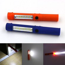 Blue/Orange Led Portable Plastic light 3 Modes LED Flashlight Torch Lamp With Magnetic And Clip For Camping Outdoor Sport Light