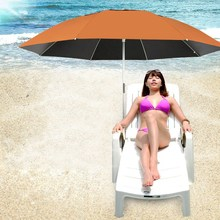 Black Vinyl Patio Umbrella Furniture Garden Umbrellas Aluminium Alloy Rod Folding Lightweight Sunshade Anti-UV Beach Umbrella