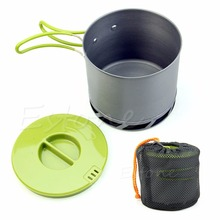 OOTDTY New Outdoors Camping Cookware Backpacking Cooking Picnic Pot Pan(China)