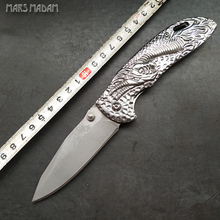MARS MADAM Perfect Damascus Folding Knife  Marked Nostalgia of the dragon grain High-end gift knife Outdoor camping tool knife