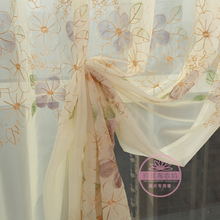 New arrival 1091 balcony embroidered curtain window screening shalian partition rustic fashion
