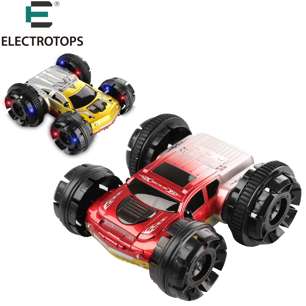 ET RC Car Double Sided Remote Control Car 6CH 360 Degree colorful light Spinning Flips Stunt Car RC Vehicles USB Charging YE8885(China (Mainland))