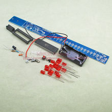 1sets/Lot Electronic Fun DIY Kit LED Shake Vibration Stick Flashing Light 17 pcs Red LED For Beginners Mannual Welding