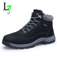 Men Boots 2017 Winter Shoes With Fur Warm Outdoor Ankle Boots Best Quality Waterproof Fashion Men Snow Boots(China)