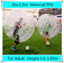 1.5m TPU inflatable bubble football soccer zorb ball for adult, inflatable human hamster ball bumper ball Outdoor Fun & Sports