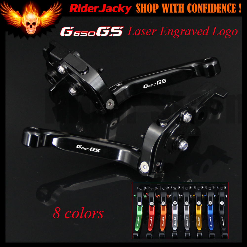 Full Black Motorcycle CNC Adjustable Extendable Brake Clutch Levers For BMW G650GS G650 GS 2008-2014 2009 2010 2011 2012 2013<br>