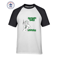 2017 Hot sale Mix Color Fashion Casual Green Day Kerplunk cartoon Rock Music  funny t shirt for men short sleeve