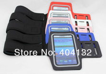 sherrytree 100PCS DHL EMS Free Sport Arm Band Bag For Samsung Galaxy Note 2 Armband,Cell Phone Pouch For Samsung N7100 Case(China)