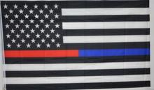 free shipping  red  Line usa Police Flags, 90*150cm Thin Blue Line USA Flag Black, White And Blue line Flag With Grommets