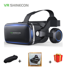 Shinecon 6.0 Casque VR Box Virtual Reality Glasses 3 D 3d Goggles Headset Helmet For Smartphone Smart Phone Google Cardboard Len(China)