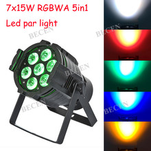 hot 7x15w RGBWA 5in1 led par light for stage dj club lights factory sale(China)