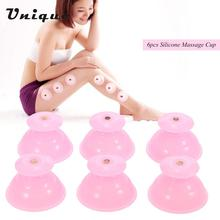 6pcs Face Legs Arms Care Treatment Silicone Massage Cupping Cup Facial Body Vacuum Cupping Cup Moisture Absorber Cupping(China)