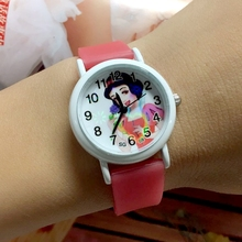 Factory Price 10PCS/LOT Wholesale Princess Children Cartoon Wristwatches Girls Glow In The Dark Silicone Kid Jelly Quartz Watch(China)