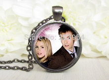 movie new dr doctor who rose David Tennant Necklace 1pcs/lot bronze or silver Pendant Steampunk jewelry love kiss time travel uk