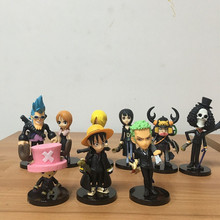 Anime One Piece Figure Luffy Chopper Zoro Action Figurine Model Toys 9pcs/lot