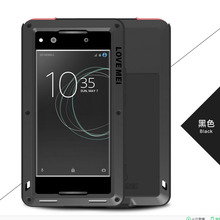 Waterproof case For SONY Xperia XA1 Love Mei Metal Aluminum Powerful Case Cover For Sony XA1 Case Cover + Gorilla Glass Lovemei