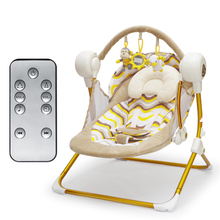 Free ship!Electric baby swing music rocking chair automatic cradle baby sleeping basket placarders chaise Bluetooth send gifts(China)