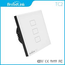 Broadlink TC2 3Gang Smart Wifi Wireless Controlled 433Mhz Light Switch Board Square Shape Touch Screen Wall Remote Control Lamp(China)