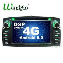 DSP 2 din Android 8,0 4G/Android 8,1 dvd-плеер автомобиля для Toyota Corolla E120 BYD F3 мультимедийный плеер стерео gps радио навигации(China)