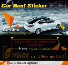 2 meters 40% off!  customized car roof vinyl sticker film high gloss black, red, white, 3D/6D carbon fiber vinyl sunroof film