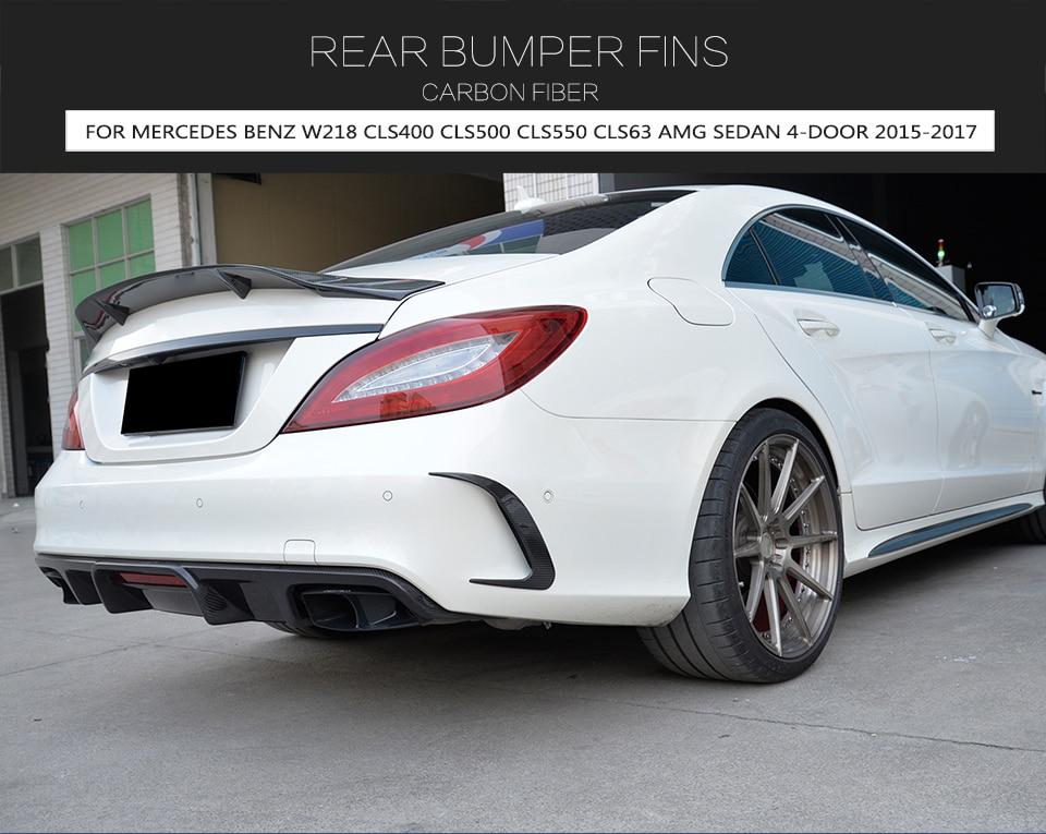 HOTRIMWORLD Black Rear Bumper Spoiler Air Vent Cover Trim for Mercedes-Benz CLS W218 CLS63 CLS250 AMG 2014-2017