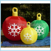 100cmDia hanging inflatable christmas ball,inflatable christmas ornaments ball for party event