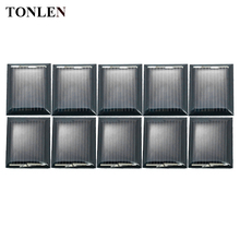 TONLEN 10PCS 1V 80mA Epoxy Solar Panel Solar Cell 30*25mm Photovoltaic Panel DIY Home Solar System Battery Power Charge Module(China)