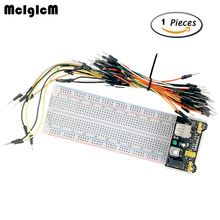 MCIGICM MB102 830 Point Solderless PCB Breadboard with 65pcs Jump Cable Wires and Power starter kit(China)