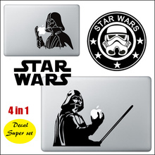"4 pcs/lot Star Wars Theme 4 in 1 Laptop Decal Sticker Set for Apple MacBook Decal 11"" 13"" 15"" Mac Adesivo Pegatina para Notebook"