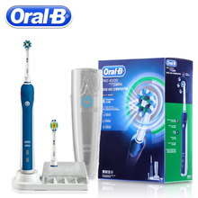 Braun Oral B PRO4000 3D Smart Ultrasonic Electric Toothbrush Teeth Whitening Rechargeable Tooth Brush Adult Daily Clean Gum Care(China)