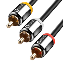 Dorewin 3RCA to 3 RCA Audio Cable Male to Male AV Cable Gold plated 3X RCA Video Cable Plug 1.5m 3m 5m 10m 15m for DVD VCD TV(China)