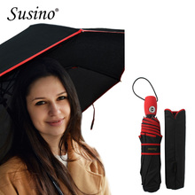 SUSINO Big Windproof Travel Umbrella Compact Lightweight Auto Open Close Combination Color Adults Women's Umbrellas 16301AC