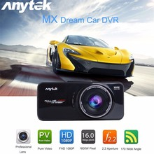 Hot! Anytek AT66A full HD 1080P DVR  Car Camera DVR Recorder Black Box 170 Degree  Lens Supper Night Vision Dash Cam GPS Tracker
