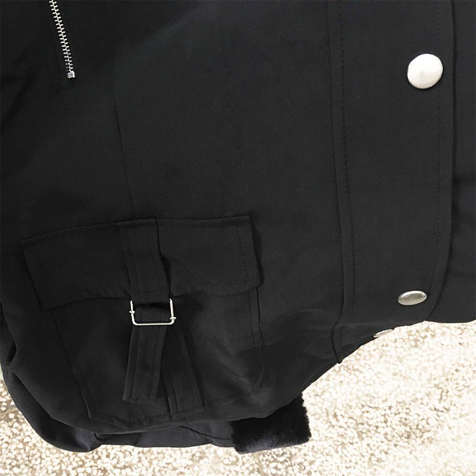 معطف الشتاء الدافئ مع حزام على الخصر 5