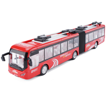 New 1:48 Beijing Bus Alloy Diecast Car Model With Pull Back Toy Electronic Car For Kids Birthday Gifts Toys Free Shipping(China)