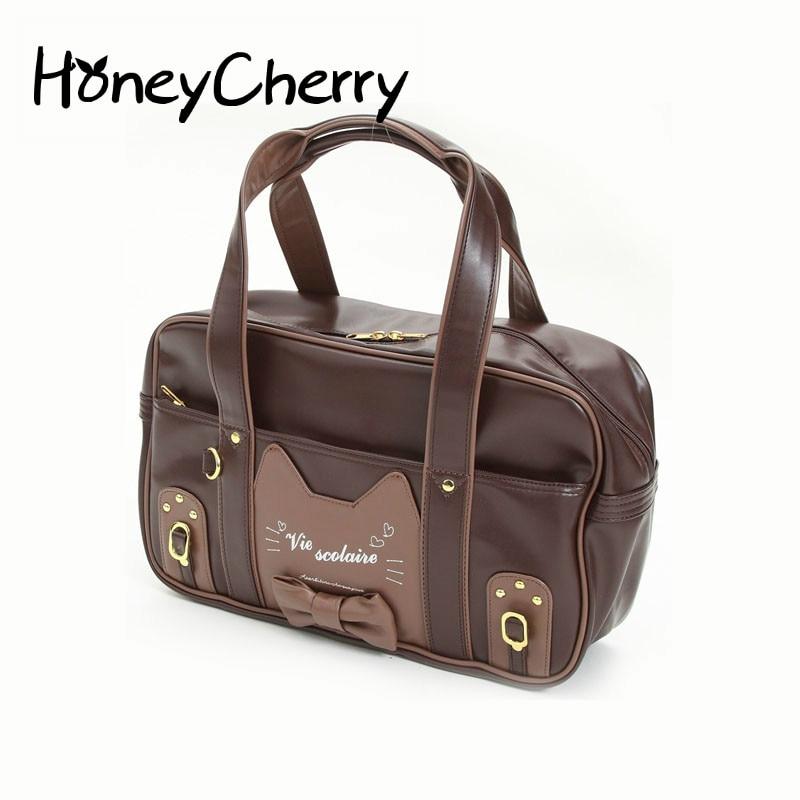 College Wind Cat Student Bag Uniform Package Jk Package Lolita Handbags Women Bag Handbag<br>