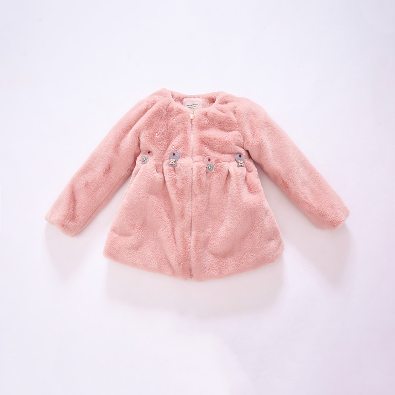 New arrival Plush Coat Children Faux Fur Coat Girls Explosion Thickened Small Children Warm Coat Girls Winter Coat 4-8YОдежда и ак�е��уары<br><br><br>Aliexpress