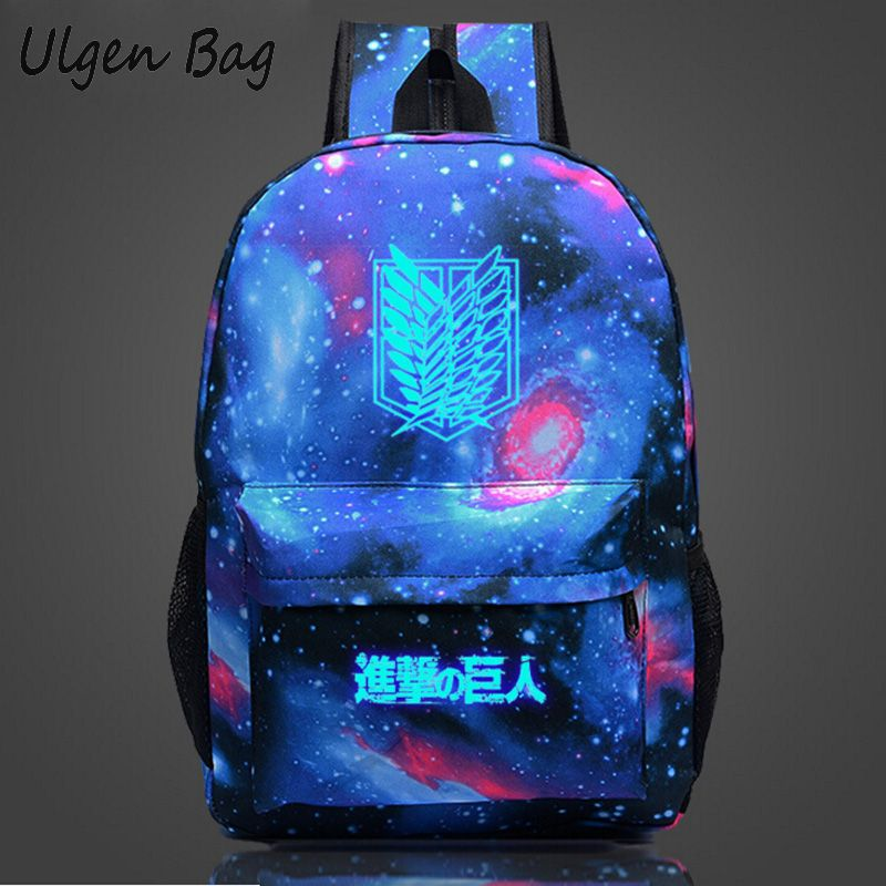 Attack on Titan Backpack Japan Anime Printing School Bag for Teenagers Cartoon Galaxy Printing Travel Shoulder Bags<br><br>Aliexpress