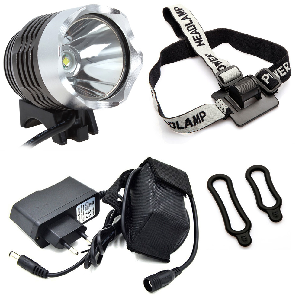 Rechargeable LED Bike Light Cycling Headlight CREE XM-L T6 1200 Lumens 3-mode Flash Light 3-4 Hours Duration 8.4V Battery Pack<br><br>Aliexpress