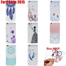 Abstract Art TPU Clear Transparent Soft Silicone Capinha Etui Cover Case Coque For Huawei P8 Lite 2015 catcher Wind Butterfly