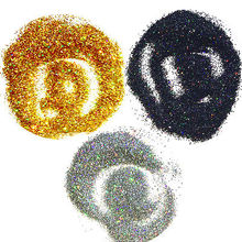 3 colors/lot Holographic Nails Glitter Dust Magic Glimmer Nail Body Art Glitter Mermaid Effect Powder Laser Gold/black/silver