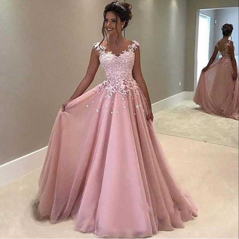 1e0942708a3 ... платья трапециевидной формы Длинные тюлевые вечерние платья длиной до  пола пушистые Вечерние платья на заказ на Aliexpress.com