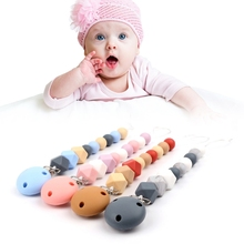 Buy Baby Nipple Clips Soft Silicone Beads Teether Pacifier Infant Soother Holder-M15 for $4.13 in AliExpress store