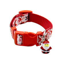 Christmas Adjustable Pet Dog Christmas Collar+Leash Set Santa Claus Style Pet Dog Collar Puppy Small Dog Collar Products Supply(China)