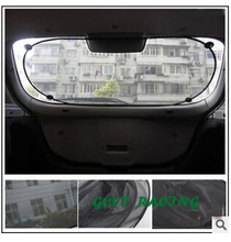 car sun visor mesh Rear Window Foil Sunshade Cover Film Shield Screen Car Sun Shade curtainUV folie Protective car sun cover(China)