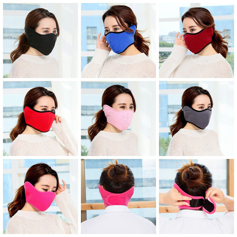 Women's Masks Romad 1pcs Cotton Mouth-muffle Black Health Cycling Anti-dust Mouth Face Unisex Face Masks Warm Winter Fashion Accessory R4