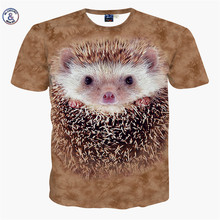 Mr.1991INC&Miss.GO Summer New Men/Women 3D printing Hedgehog hippo dolphin goat T-shirt Top level apparel Tshirt Male T shirt